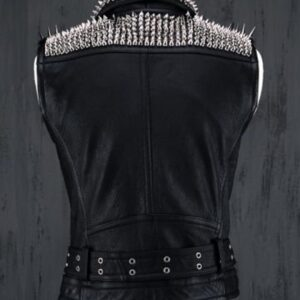 silver-long-spiked-studded-black-leather-vest