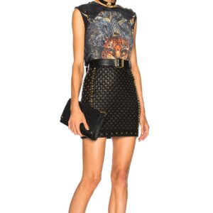 studded-quilted-black-leather-mini-skirt
