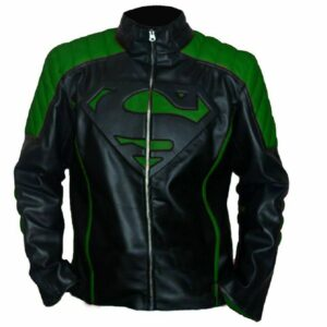 superman-green-black-motorcycle-leather-jacket