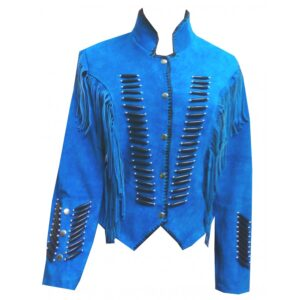 western-cowboy-fringed-blue-suede-leather-jacket