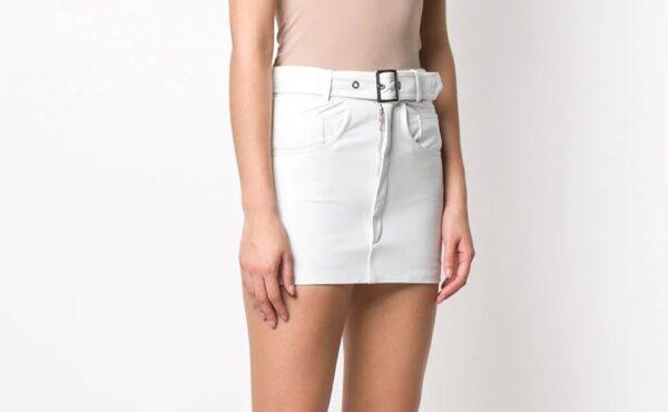 white-leather-mini-skirt