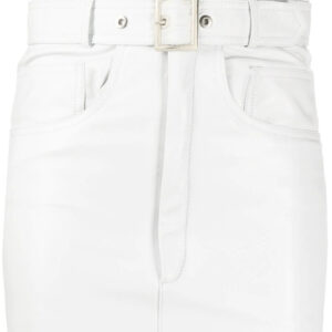 white-leather-mini-skirt
