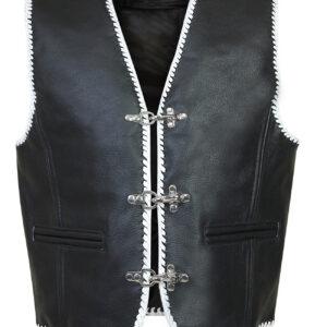 white-trim-biker-leather-vest