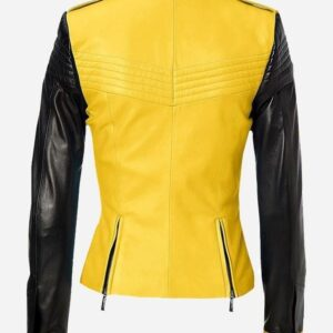 yellow-black-leather-jacket-for-women