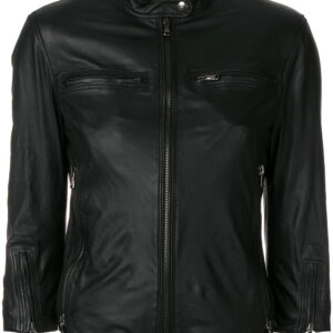 black-lambskin-fitted-leather-jacket