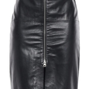 black-leather-pencil-long-skirt