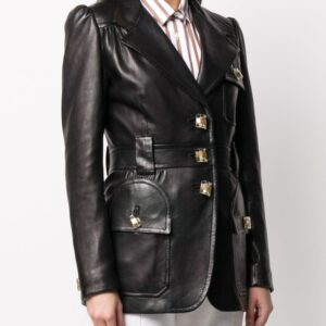 black-single-breasted-leather-blazer-coat