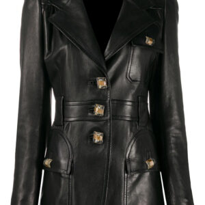black-single-breasted-leather-blazer-coat
