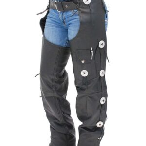 black-western-leather-chaps-w-conchos