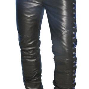 blue-laces-up-contrast-biker-leather-pant
