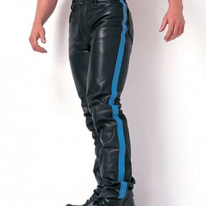 blue-strip-real-leather-biker-pant