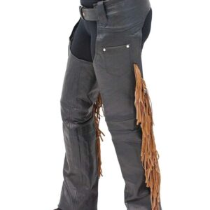 brown-fringe-black-leather-chaps