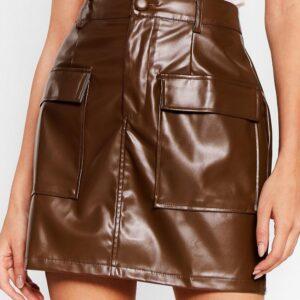 brown-lambskin-leather-biker-mini-skirt