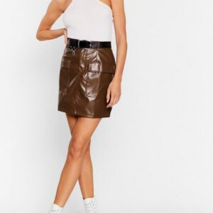 brown-lambskin-leather-biker-mini-skirt