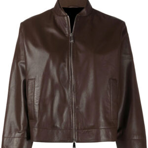 brown-leather-cropped-sleeves-jacket