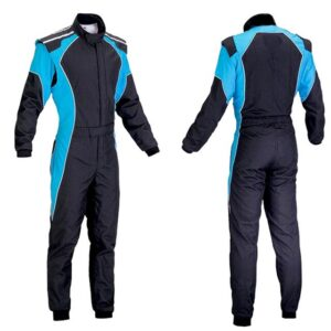 car-one-piece-blue-and-black-racing-suit