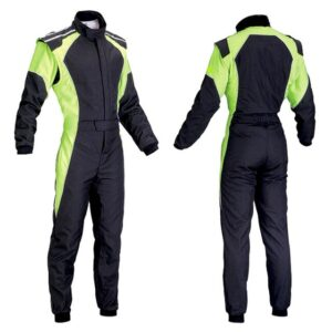 car-one-piece-green-and-black-racing-suit