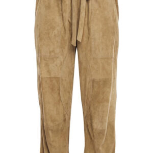 cropped-suede-leather-straight-leg-pants