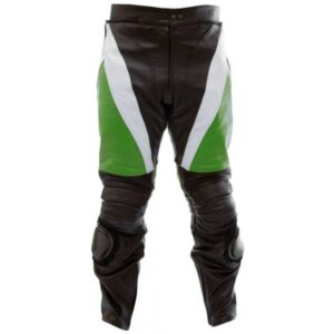 custom-black-green-leather-motorcycle-trouser