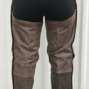 distressed-rustic-brown-buffalo-leather-biker-chaps