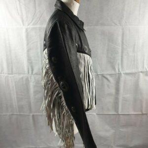 fringe-leather-embellished-studded-jacket