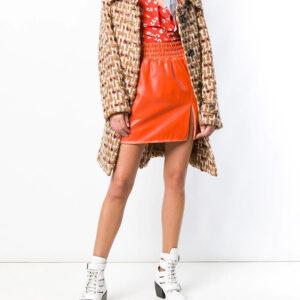leather-flared-mini-skirt