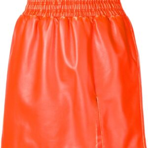 leather-flared-mini-skirt