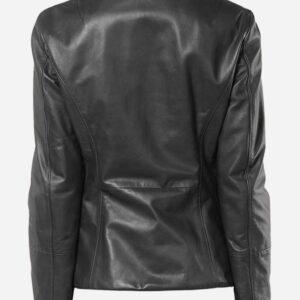 lightweight-4-button-black-leather-blazer-coat