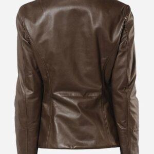 lightweight-4-button-brown-leather-blazer-coat