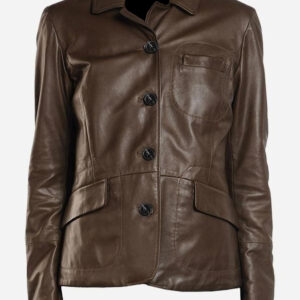 lightweight-4-button-brown-leather-blazer-coat