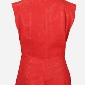 luxurious-3-button-womens-red-leather-vest