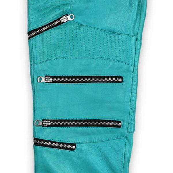 men-cool-style-bright-blue-leather-biker-pant