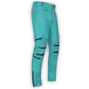 men-cool-style-bright-blue-leather-biker-pant