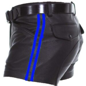 mens-real-sheep-leather-black-with-strips-shorts