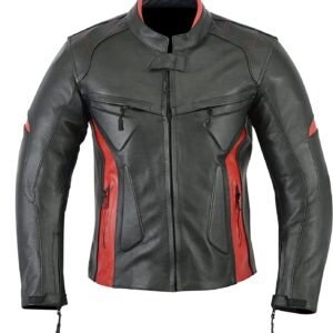 motorcycle-black-red-leather-armor-jacket