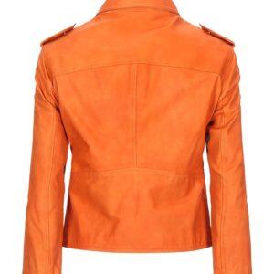orange-color-biker-leather-jacket