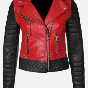 red-and-black-leather-quilted-jacket