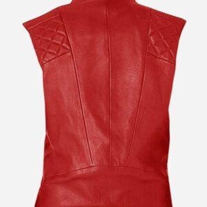 red-fashion-biker-leather-vest