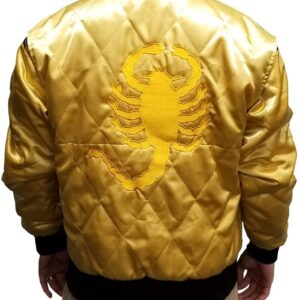 ryan-gosling-scorpion-drive-golden-quilted-jacket