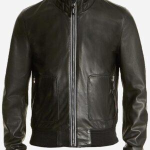 soft-men-black-leather-bomber-jacket