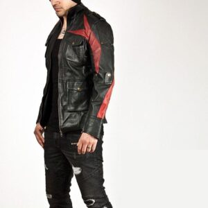 striking-two-tone-red-strip-accent-black-leather-jacket