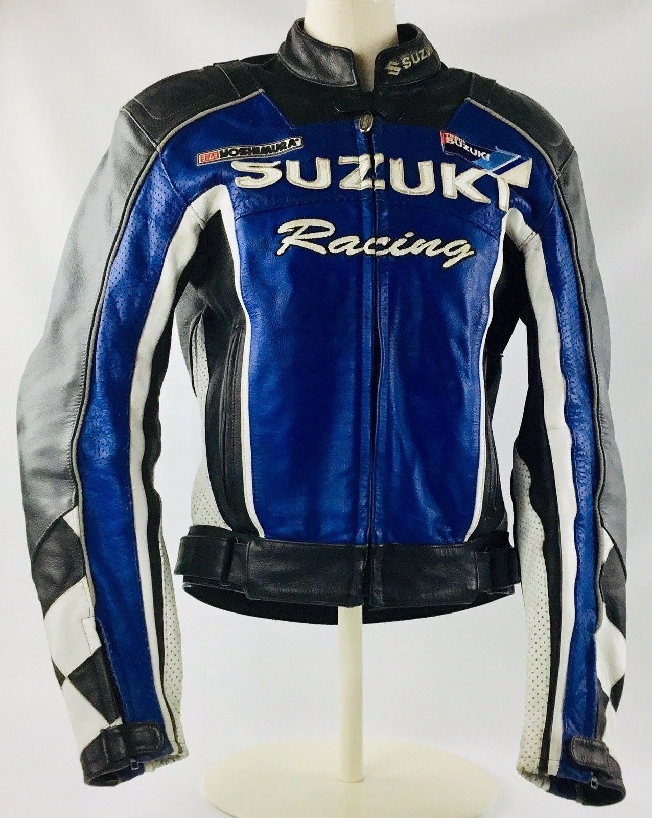 Suzuki-blue-and-white-racing-leather-jacket