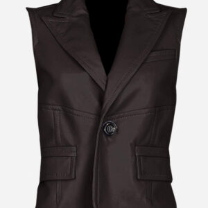 timeless-one-button-brown-leather-vest