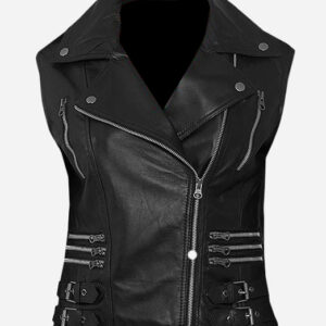trendy-black-biker-leather-vest