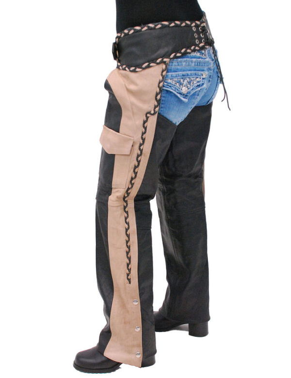 Two Tone Western Chaps With Braid