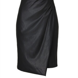 vegan-leather-overlay-skirt