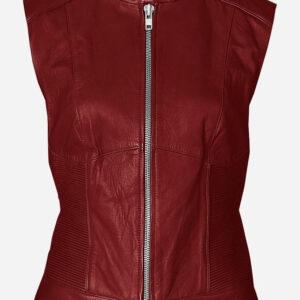 vintage-look-women-maroon-leather-vest