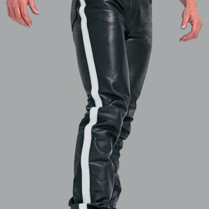 white-strip-real-leather-biker-pant