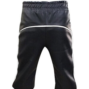 black-leather-cargo-shorts
