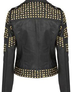 handcrafted-golden-half-studded-black-leather-jacket